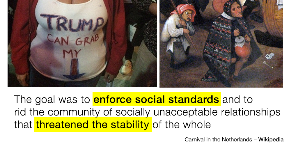 The goal was to enforce social standards and to rid the community of socially unacceptable relationships that threatened the stability of the whole.