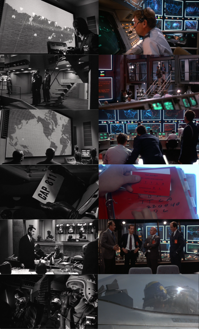 scenes from Fail-Safe (1964) and War Games (1983)